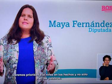 Maya Fernández, el himno nacional y un dibujo del árbol: así fue el comienzo de la franja electoral