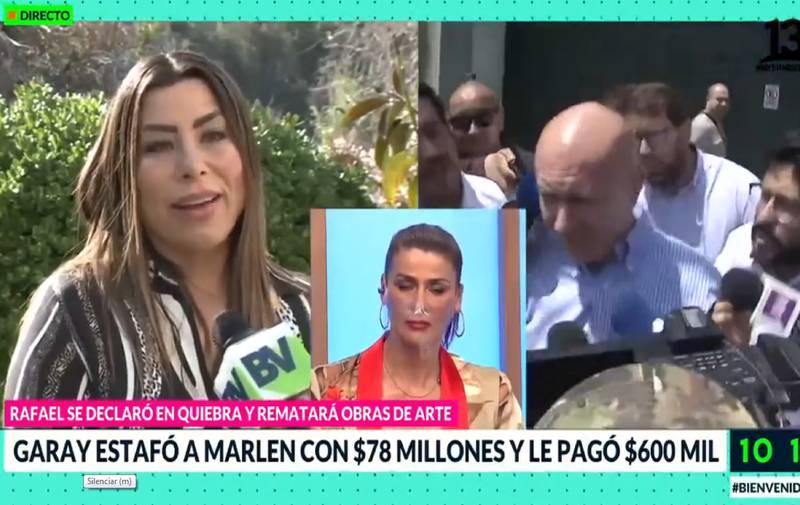 Marlén de la Fuente hablando con Bienvenidos.