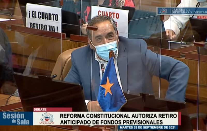 Diputado Fidel Espinoza en su intervención.