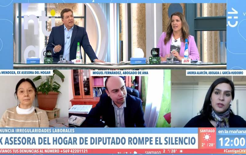 Julio César Rodríguez este lunes en el matinal.
