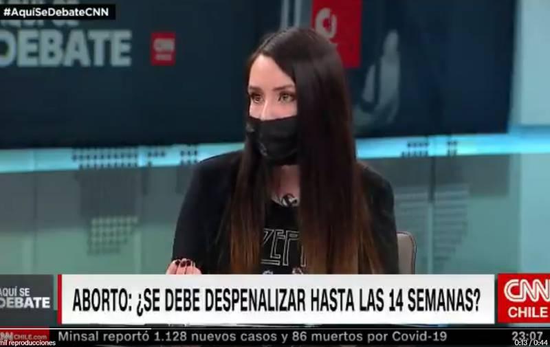 El proyecto de aborto lo discutió la investigadora Daniela Carrasco.