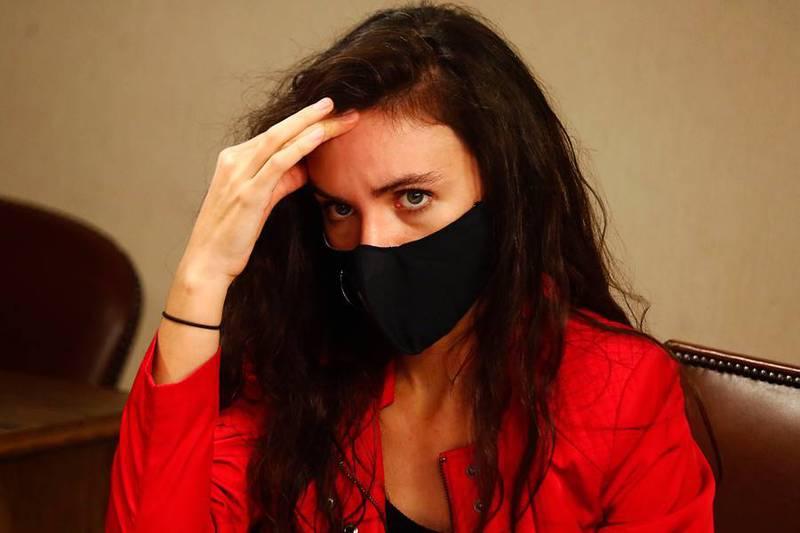 """De """"campaña del terror"""" habló Camila Vallejo."""