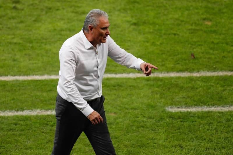 Tite, entrenador de los jugadores brasileños.
