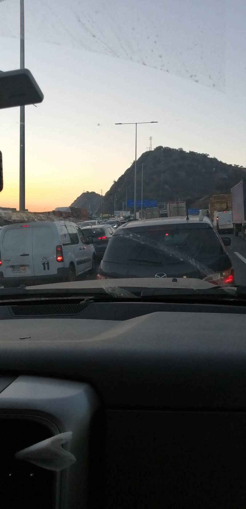 Alta congestión en Angostura.