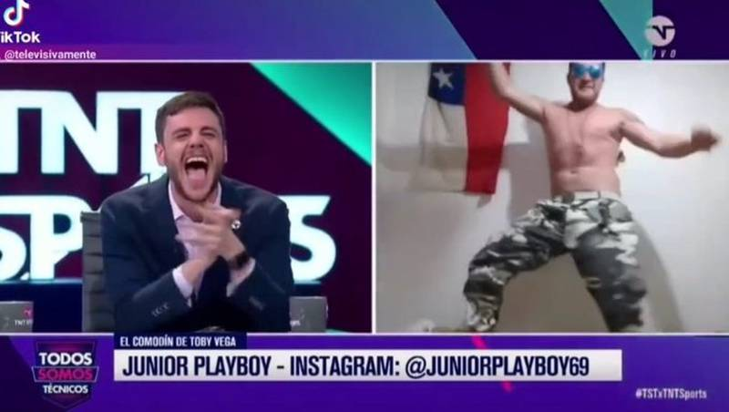 Junior Playboy en acción.
