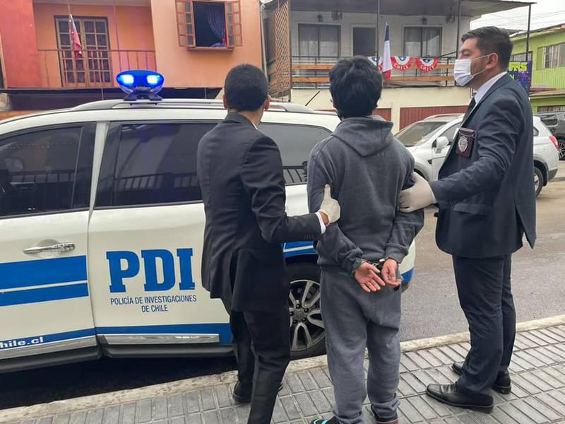 El hombre detenido en Arica