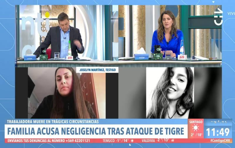 La testigo en Chilevisión
