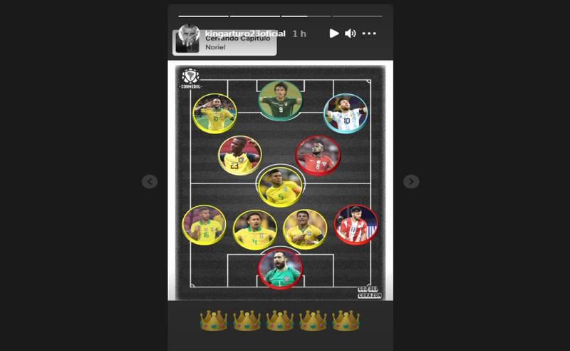 Arturo Vidal en un equipo ideal.
