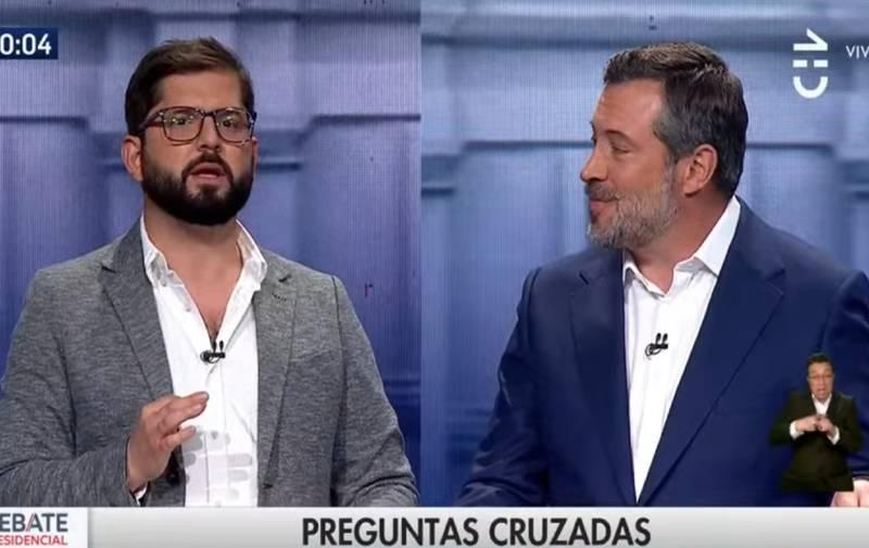 Gabriel Boric y Sebastián Sichel.