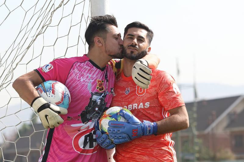 Nicolás Peric y Johnny Herrera