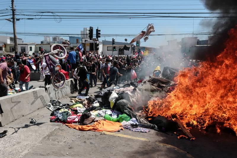 Ataque migrantes Iquique