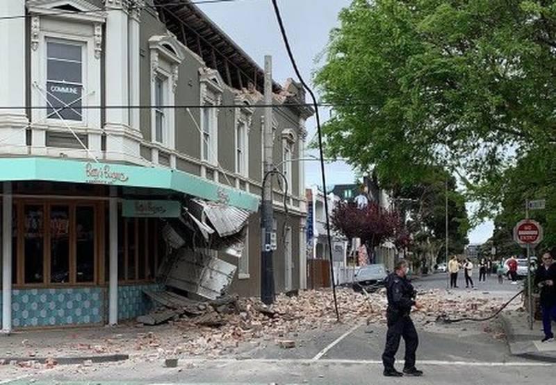 El terremoto dejó estas primeras imágenes.