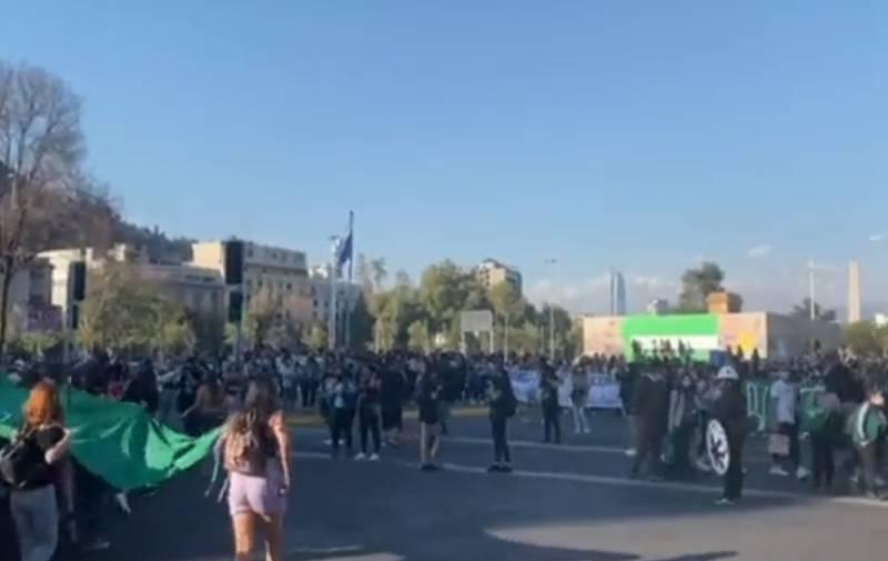 La marcha en Baquedano.