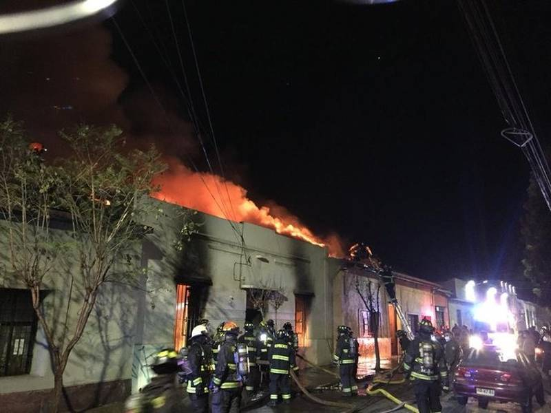 Incendio en San Felipe.
