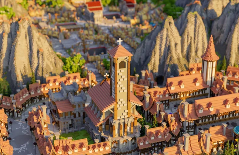 Uno de los escenarios de Minecraft construidos por Sulikowski.