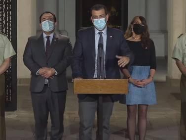 """Ministro Delgado condenó actos de violencia del 18-O:  """"Llamamos a todos los candidatos a rechazar esto"""""""