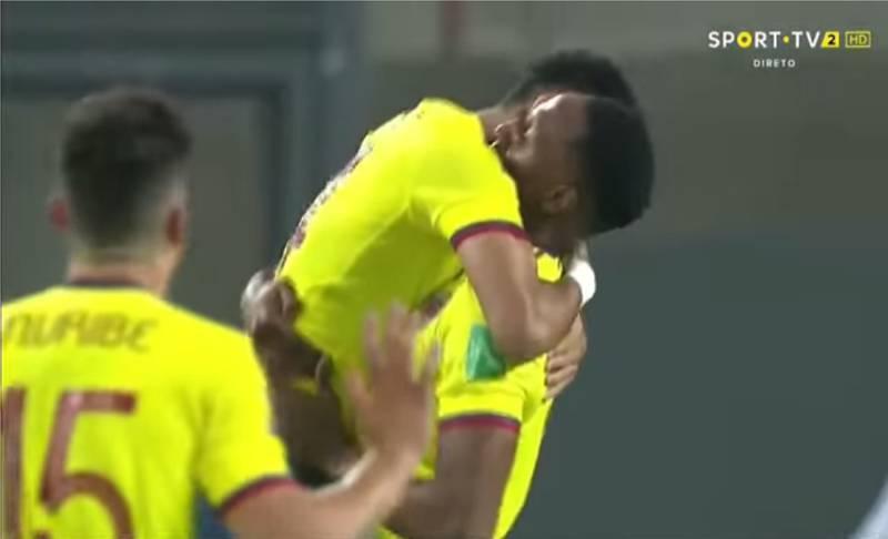 Colombia celebra el 3 a 0.