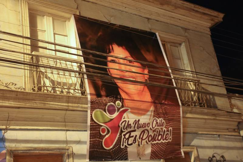 Un Nuevo Chile dice el afiche.